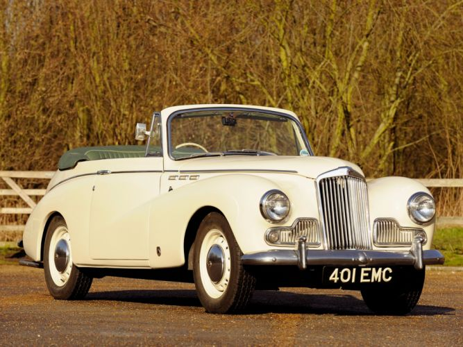Sunbeam MkIII Convertible Coupe cars classic 1954 wallpaper
