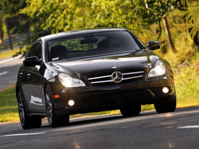 Mercedes-Benz CLS-63 AMG US-spec cars 2008 wallpaper