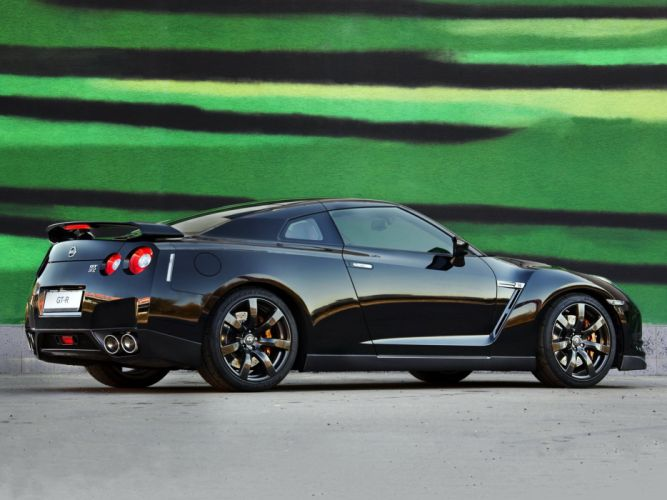Nissan GT-R Black Edition R35 cars coupe 2008 wallpaper