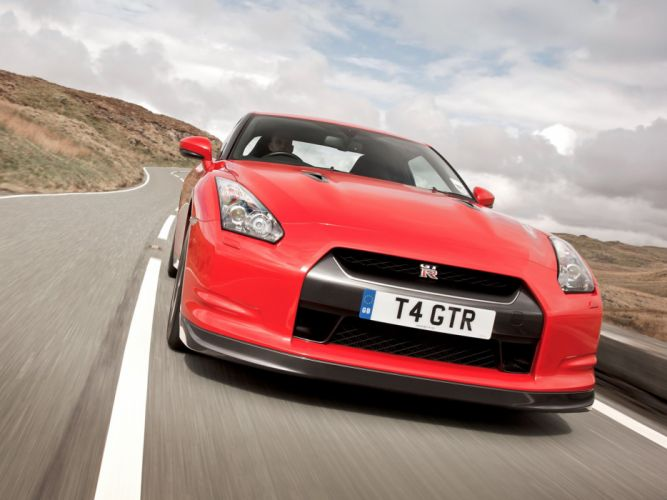 Nissan GT-R Black Edition R35 UK-spec cars coupe 2008 wallpaper