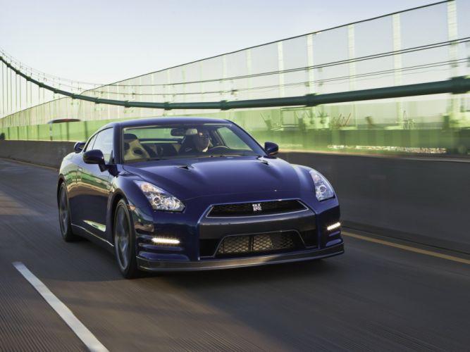 Nissan GT-R Black Edition R35 cars US-spec coupe 2010 wallpaper