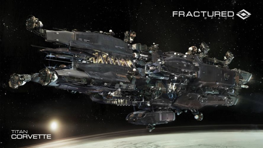 FRACTURED SPACE space combat action fighting futuristic 1fspace spaceship sci-fi shooter mmo tactical strategy mmo online poster wallpaper