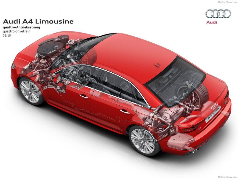 2016 AUDI-A4 sedan cars cutaway wallpaper