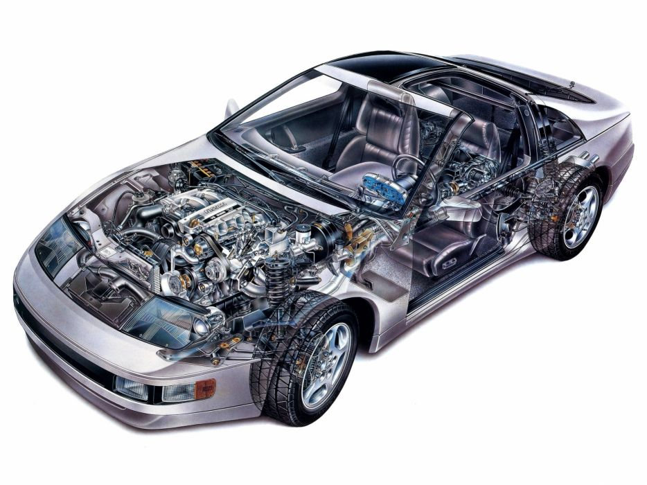 Nissan 300ZX T-Top US-spec cars cutaway wallpaper