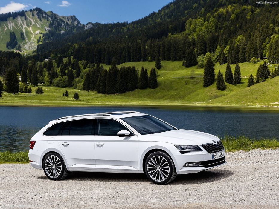 Skoda Superb Combi wagon cars white 2016 wallpaper