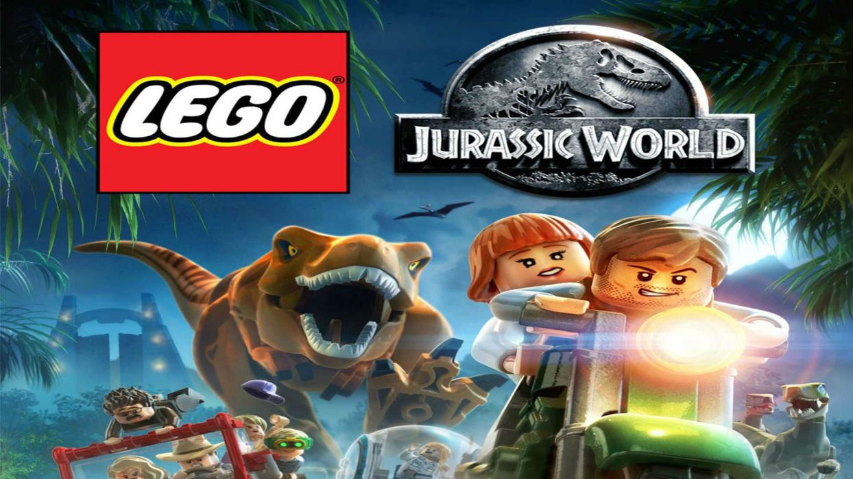 LEGO JURASSIC WORLD dinosaur fantasy sci-fi adventure monster creature action park 1ljp poster wallpaper