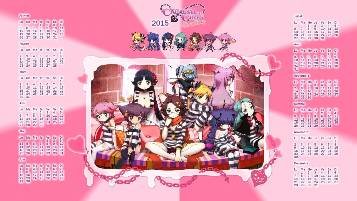 CRIMINAL GIRLS anime manga rpg sexy babe 1cgirls action fighting fantasy adventure poster calendar wallpaper