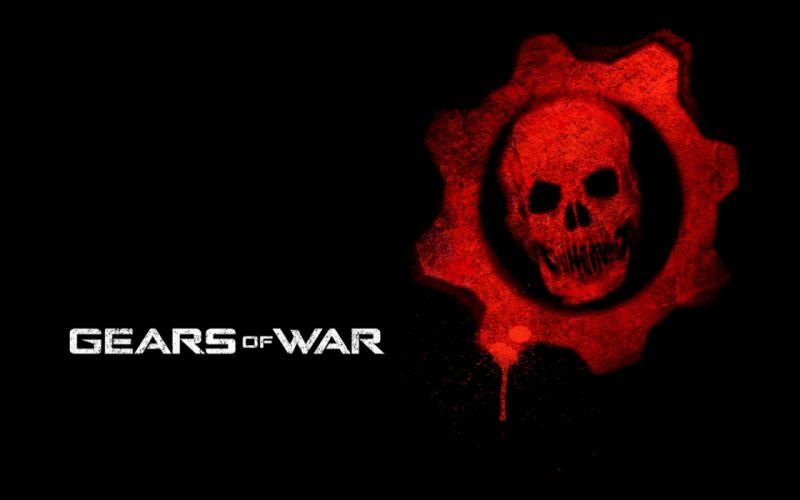 GEARS Of WAR fighting action military shooter strategy 1gw warrior sci-fi futuristic armor war battle poster skull dark wallpaper