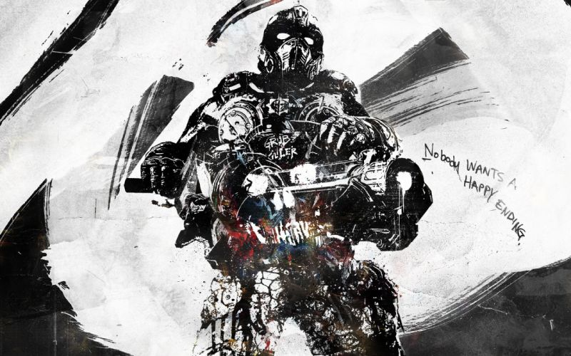 GEARS Of WAR fighting action military shooter strategy 1gw warrior sci-fi futuristic armor war battle poster skull blood wallpaper
