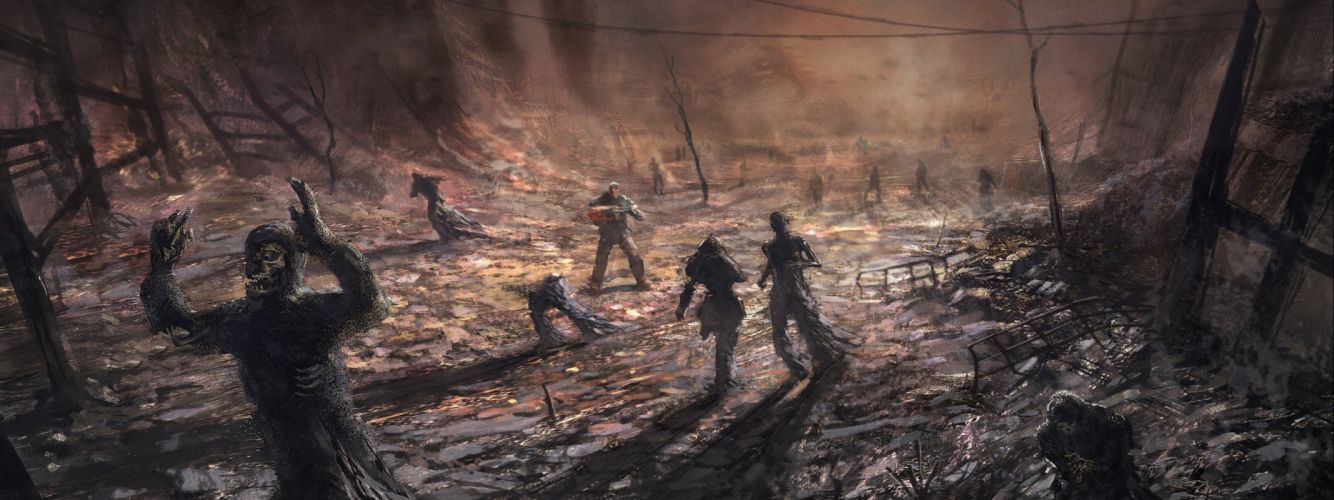 GEARS Of WAR fighting action military shooter strategy 1gw warrior sci-fi futuristic armor war battle poster dark zombie wallpaper
