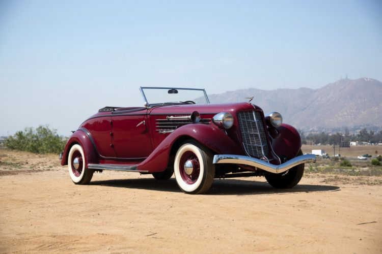 Auburn 85-SC Convertible Coupe 1935 classic cars wallpaper