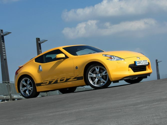 Nissan 370Z Yellow cars coupe 2009 wallpaper