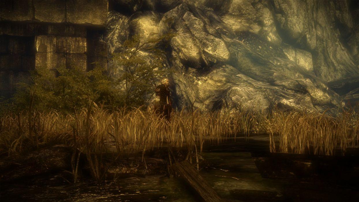 The Witcher 2 Assassins of Kings Geralt Marshland wallpaper