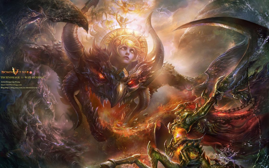 Dominance War Fantasy Artwork Art Magic Perfect Action Fighting Adventure Gods God 1domw Warrior Wallpaper 1920x1200 740261 Wallpaperup