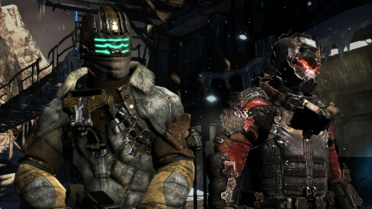 DEAD SPACE sci-fi shooter action futuristic 1deads warrior cyborg robot alien aliens artwork deadspace fighting wallpaper