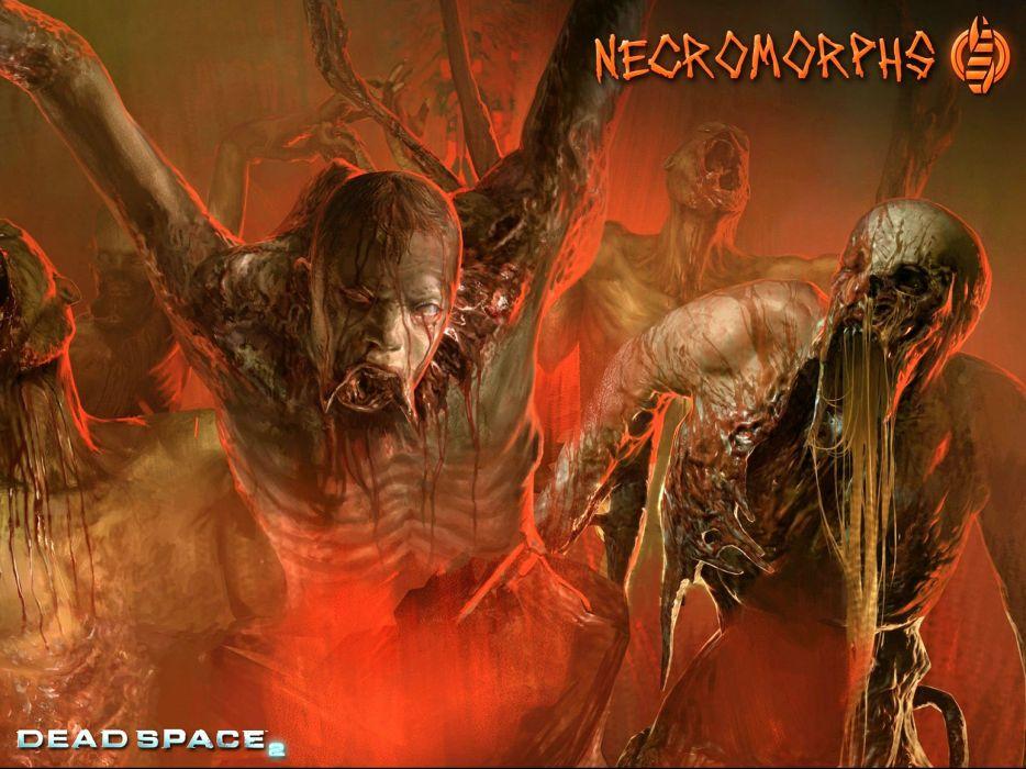 DEAD SPACE sci-fi shooter action futuristic 1deads warrior cyborg robot alien aliens artwork deadspace fighting poster monster horror evil blood zombie wallpaper