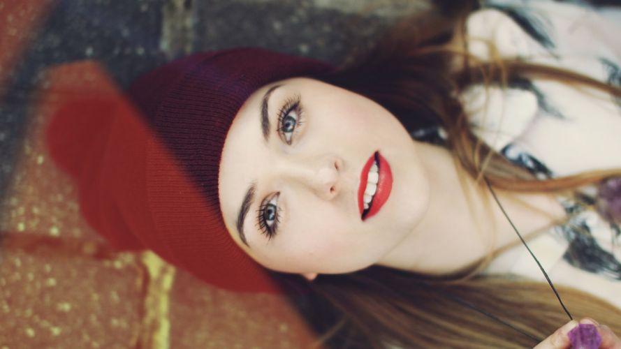 beautiful girl eyes face wallpaper