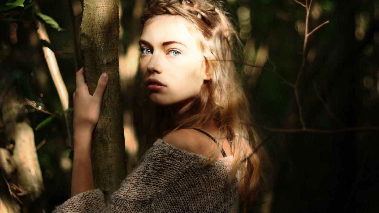 beautiful girl eyes face blue eyes blonde wallpaper