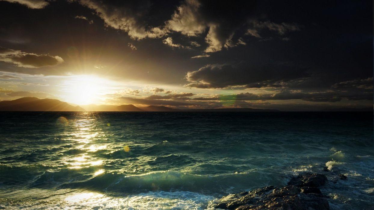 nature light sea sky beauty landscape sunset wallpaper