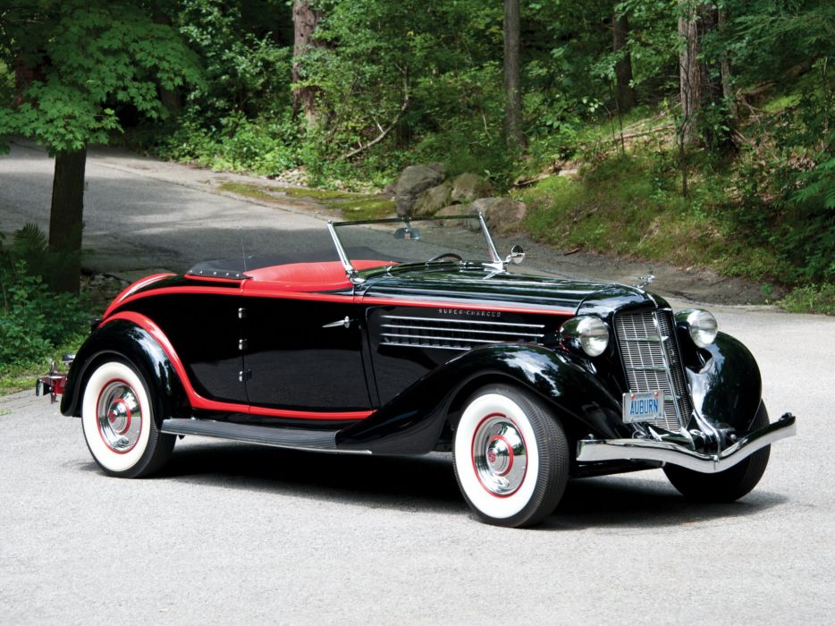 1935 Auburn 851 Supercharged Dual Ratio Cabriolet cars classic wallpaper