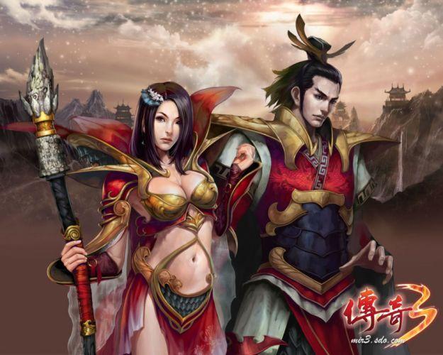 LEGEND Of MIR fantasy mmo online rpg perfect sprite fairy oriental asian artwork 1lomir warrior samurai poster wallpaper