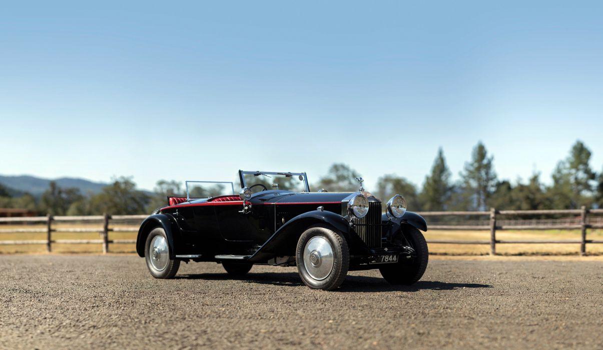 Rolls-Royce Phantom-II Boattail Speedster Hooper cars classic 1930 wallpaper