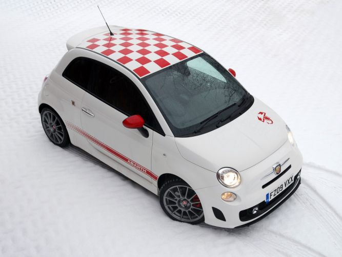 Abarth 500 fiat cars esseesse UK-spec 2011 wallpaper