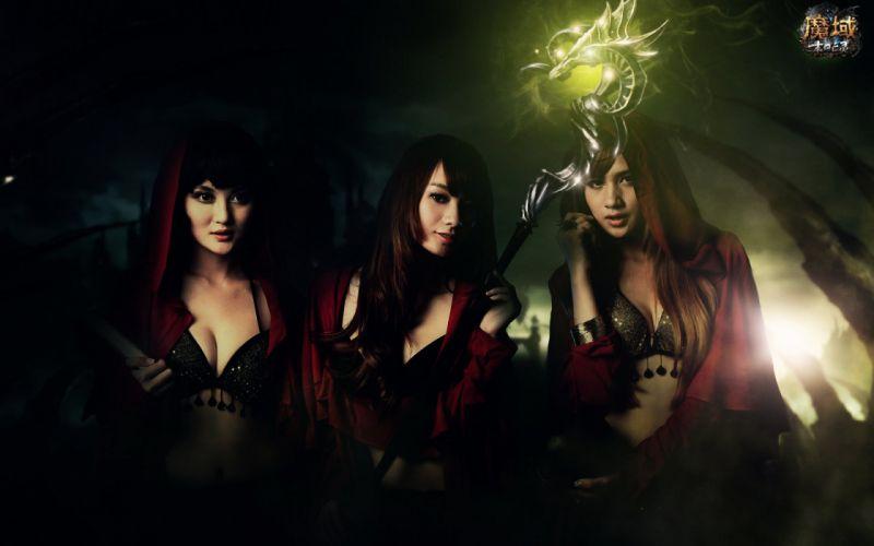 DEMONS SOULS Demonzu Souru fantasy action rpg dark action fighting demon artwork 1dsouls demonssouls evil magic cosplay asian oriental sexy babe girl wallpaper
