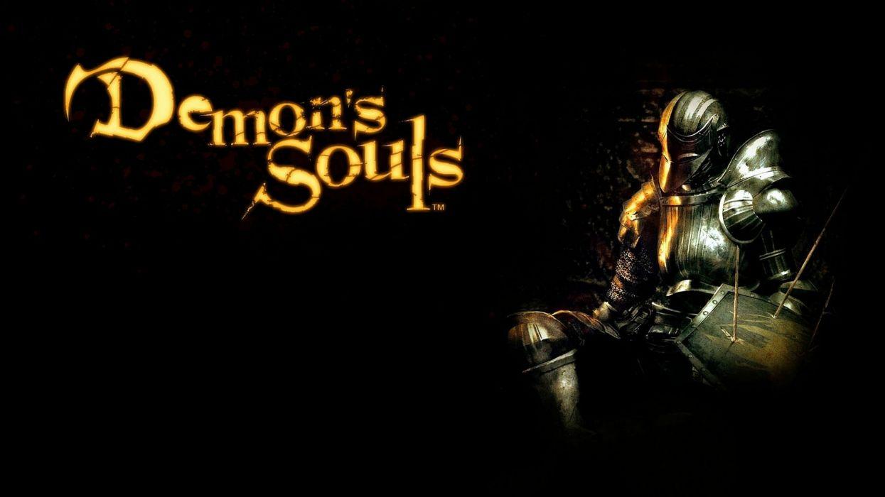 DEMONS SOULS Demonzu Souru fantasy action rpg dark action fighting demon artwork 1dsouls demonssouls evil magic poster knight warrior wallpaper