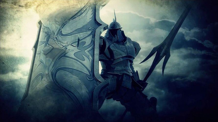 DEMONS SOULS Demonzu Souru fantasy action rpg dark action fighting demon artwork 1dsouls demonssouls evil magic knight warrior wallpaper