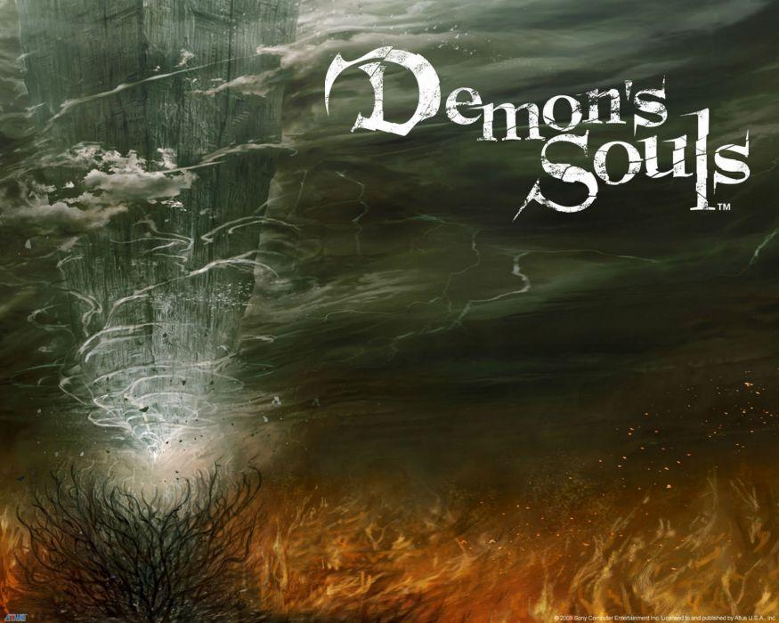 DEMONS SOULS Demonzu Souru fantasy action rpg dark action fighting demon artwork 1dsouls demonssouls evil magic monster poster wallpaper