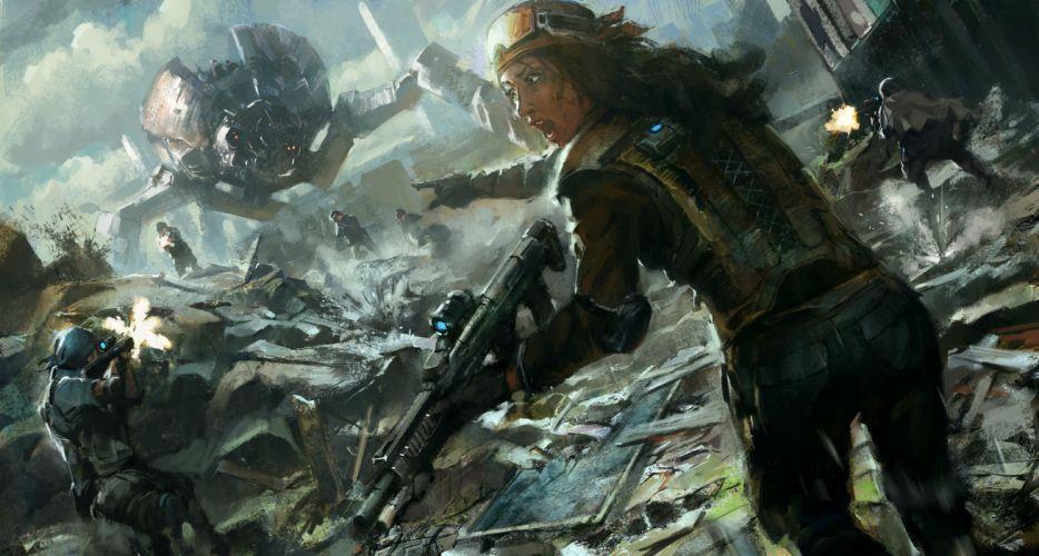 OUTRISE sci-fi shooter action sci-fi futuristic mecha artwork 1orise tactical strategy warrior wallpaper