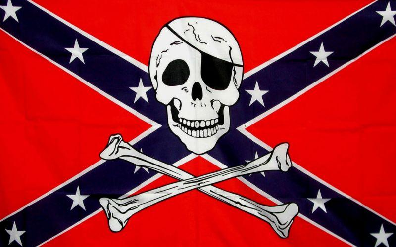 CONFEDERATE flag usa america united states csa civil war rebel dixie military poster skull pirate pirates wallpaper