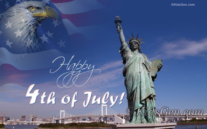 4TH JULY Independence Day usa america united states holiday flag poster statue liberty wallpaper