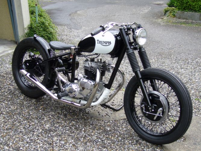 BOBBER motorcycle custom motorbike bike chopper hot rod rods tuning wallpaper