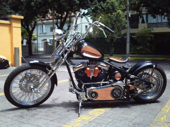 BOBBER motorcycle custom motorbike bike chopper hot rod rods tuning f wallpaper