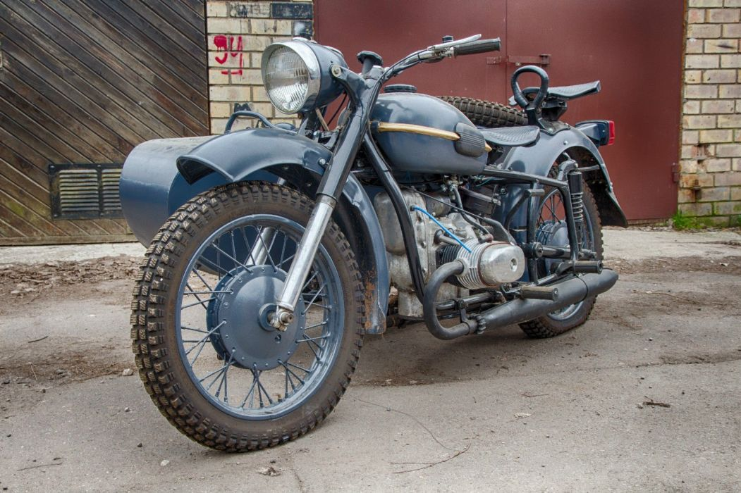 Dnepr MT-9 Vintage Soviet Army motorcycle custom motorbike bike military f wallpaper