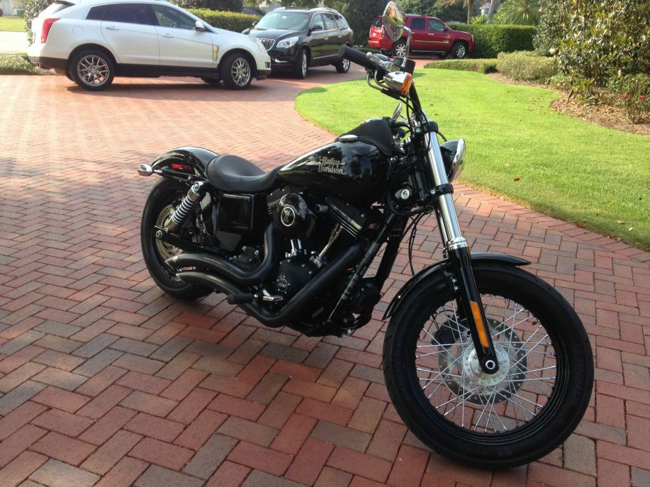 2014 Harley Davidson Dyna Street Bob FXDB motorcycle custom motorbike bike f wallpaper