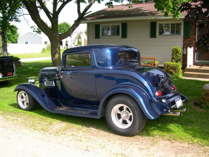 1932 Ford 3-window coupe custom hot rod rods g wallpaper