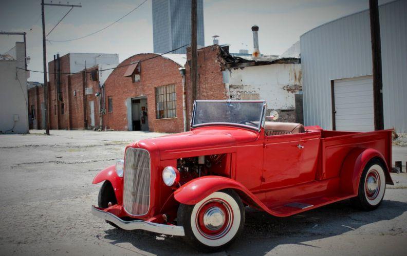 1932 FORD ROADSTER PICKUP custom hot rod rods g wallpaper