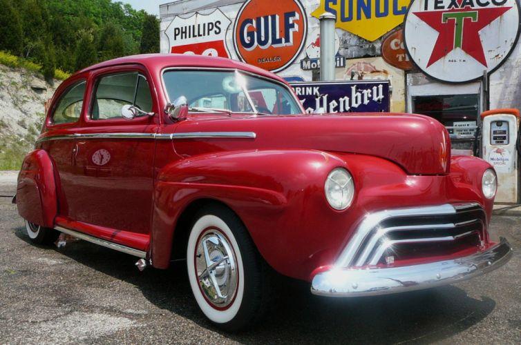 1948 Ford custom hot rod rods g wallpaper