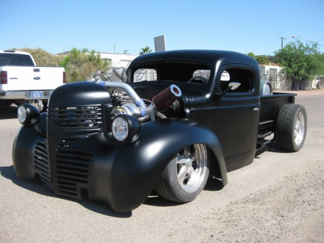 1947 Dodge Pickup custom hot rod rods g wallpaper