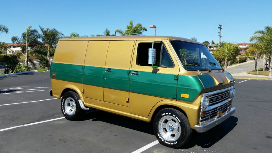 1972 Ford Custom Shorty Van custom hot rod rods g wallpaper