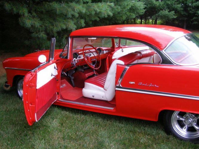 1955 CHEVY BEL AIR custom hot rod rods f wallpaper