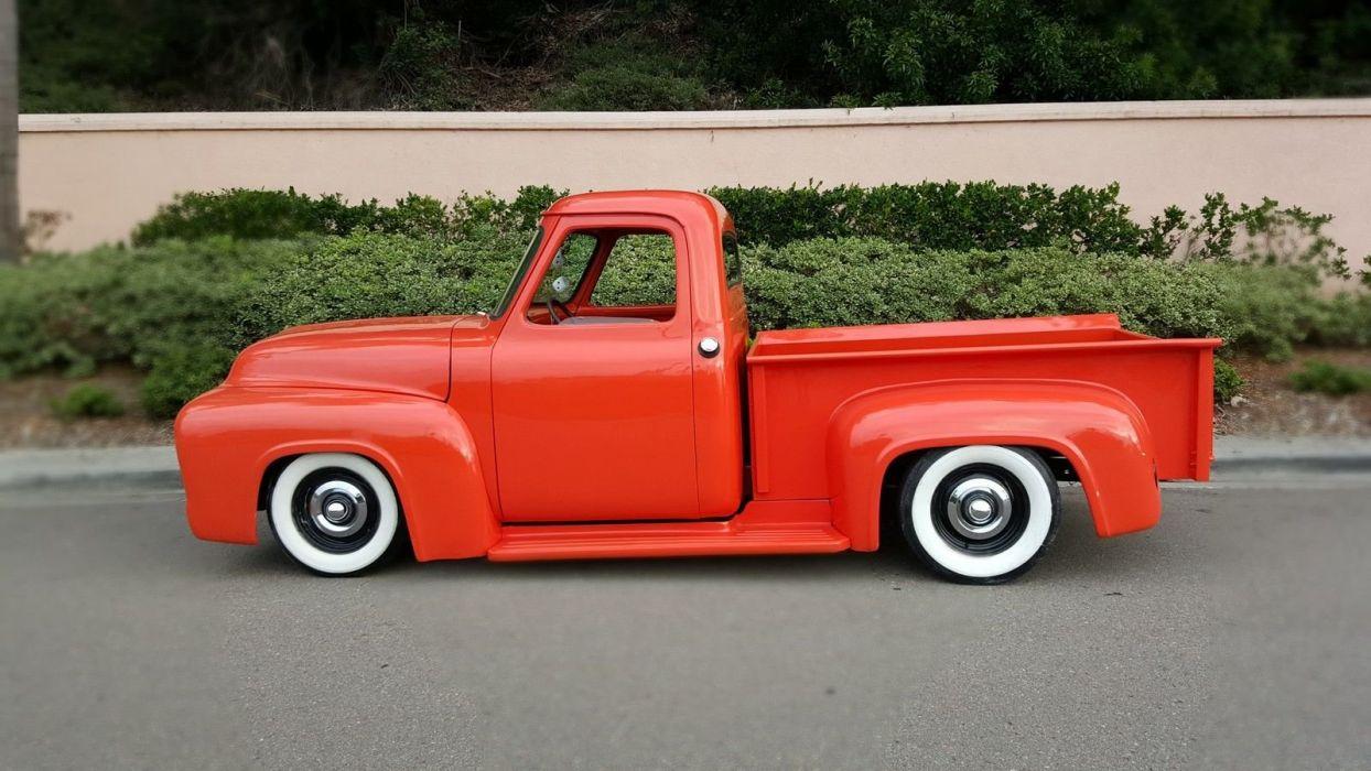 1953 Ford F-100 f100 pickup custom hot rod rods f wallpaper