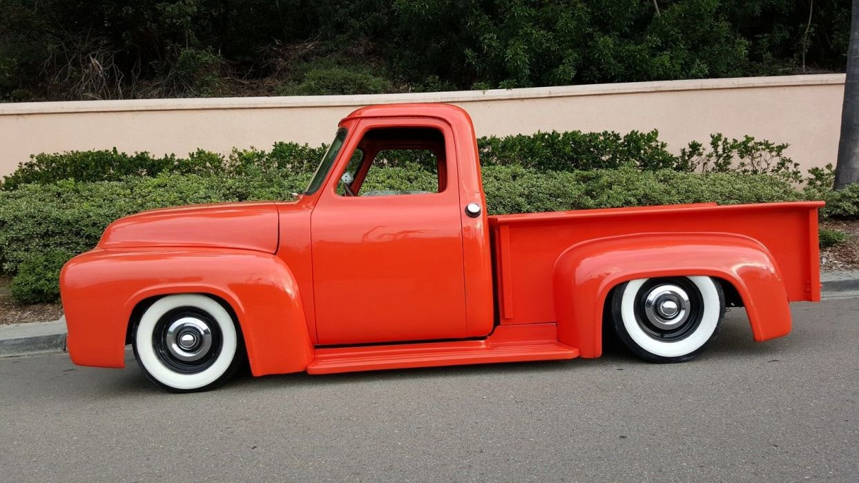 1953 Ford F-100 f100 pickup custom hot rod rods f wallpaper