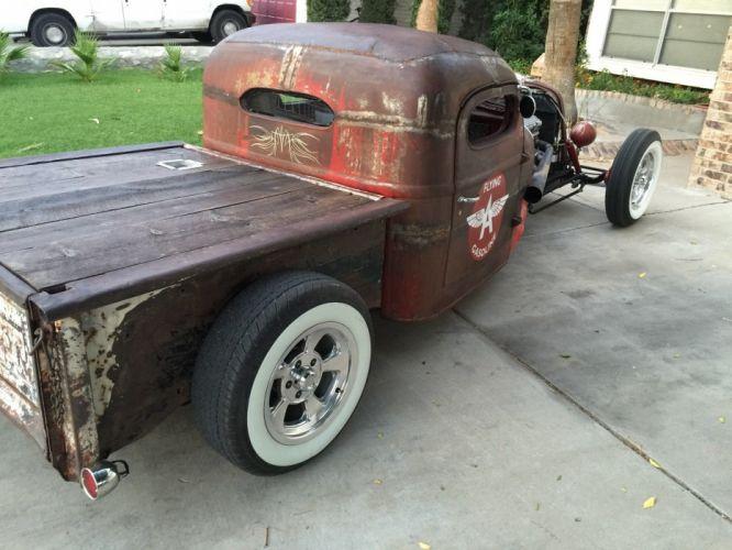 1941 International Harvester pickup rat custom hot rod rods f wallpaper