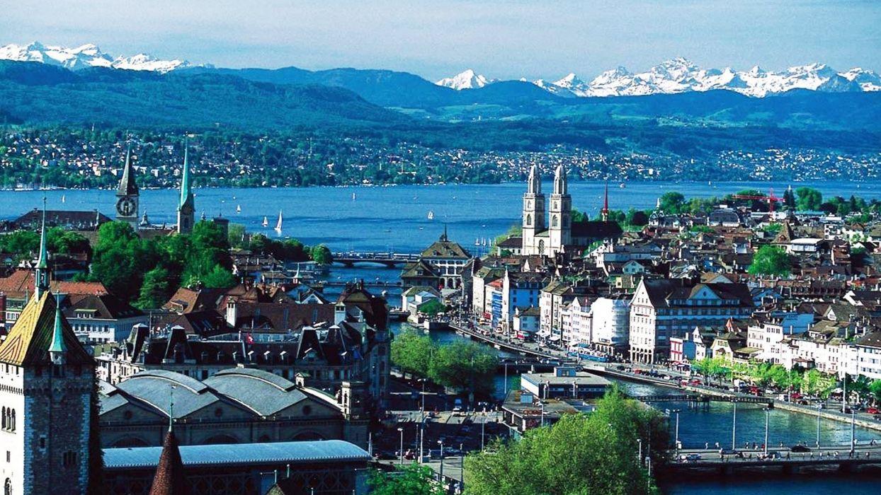 zurich suiza europa lago montaA wallpaper