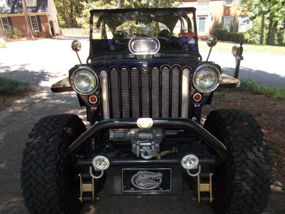 1946 Willys CJ2A jeep offroad 4x4 custom hot rod rods f wallpaper