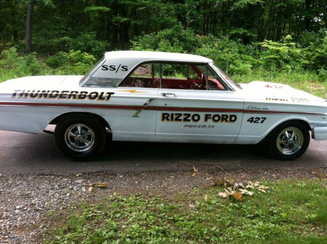 1964 Ford Fairlane Gasser Thunderbolt 427 drag race racing custom hot rod rods f wallpaper